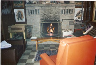 This is the fireplace that Grampa built!